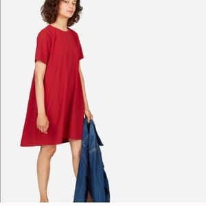 Everlane Japanese go weave a line dress